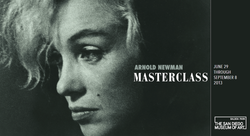 Promotional graphic for Arnold Newman: Masterclass on display at the San Diego Museum of Art June 29th through September 8th. Courtesy of the San Diego Museum of Art.