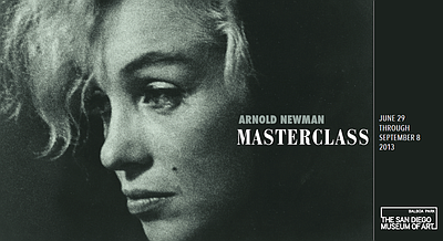 Promotional graphic for Arnold Newman: Masterclass on dis...