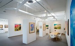 Interior image of Art Expressions Gallery, hosting Jean Stern on January 27th.
