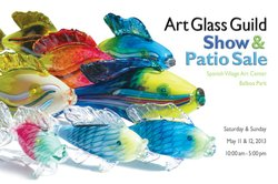 Promotional graphic for the Art Glass Guild Spring 2013 Patio Show & Sale.