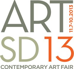 Promotional graphic for the ART SAN DIEGO Contemporary Art Fair 2013 taking place November 7-10th, 2013.