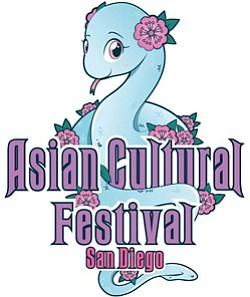 Graphic logo for Asian Cultural Festival of San Diego May 11, 2013.