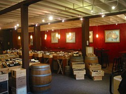 Interior photo of Bacchus Wine Market.