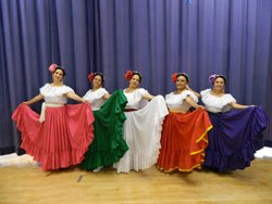 Promotional image of Ballet Folklorico performing at the College Avenue Center on July 26, 2013.