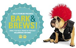 "Promotional photo of SOLO Eyewear's ""Bark & Brews"" Halloween event on October 26, 2013. Courtesy photo of SOLO Eyewear."