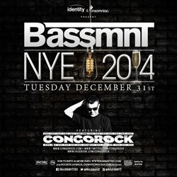 Promotional graphic for NYE 2014 at Bassmnt with Congorock.