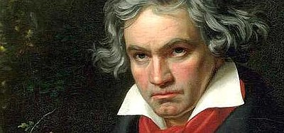 Graphic image of a painting depicting Ludwig von Beethoven.