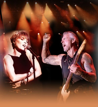 Graphic image of Pat Benatar & Neil Giraldo.
