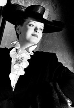 "Promotional image of Bette Davis in ""Now, Voyager""."