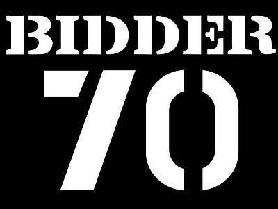 "Graphic logo for the film, ""Bidder 70."""