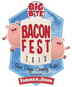 Promotional graphic for the ​Big Bite Bacon Fest on Sunday, June 16, 2013.
