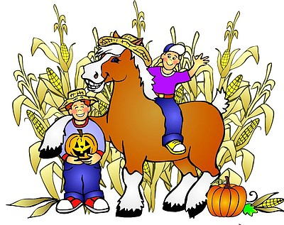Graphical logo for the Big Horse Corn Maze in Temecula.