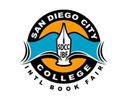 Graphic logo for the 8th Annual San Diego City College International Book Fair, September 30th - October 3rd, 2013.