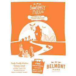 Promotional flyer for Boomont Park Fall Festival and Haun...