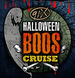 Promotional graphic for the 91X Boo's Cruise, taking place on October 31st, 2013. Courtesy of Hornblower Cruises San Diego.