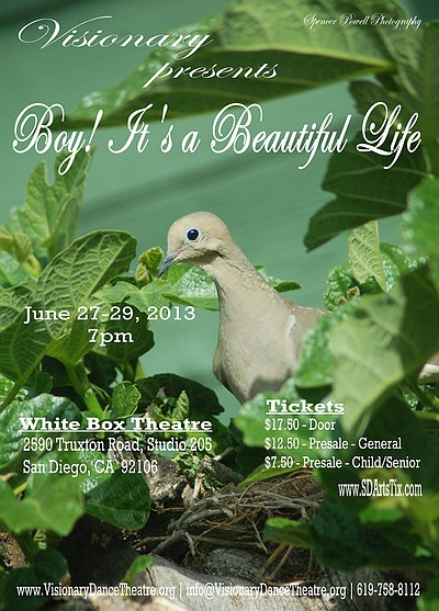 "Promotional graphic for the ""Boy It's A Beautiful Life"" Taking place from June 27-29. Courtesy of Visionary Dance Theatre"