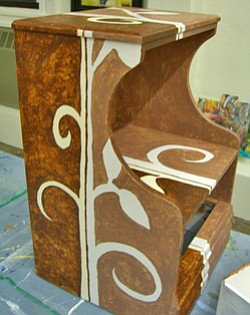 Promotional image of Painted Furniture at Bravo School of Art.