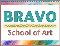 Graphic logo of the Bravo School of Art. Courtesy image of Bravo School of Art.