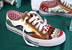 Promotional image of Paint Your Sneakers workshop at Bravo School of Art.  Courtesy image of Bravo School of Art.