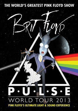 Promotional graphic for the Brit Floyd Pulse World Tour 2...