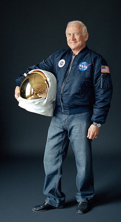 Promotional photo of Buzz Aldrin. Courtesy of Buzz Aldrin