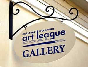 Exterior sign for Coal Fine Art Gallery.