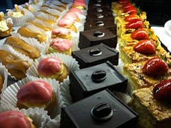 Promotional photo of Cafe Zucchero's desserts.