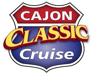 Promotional graphic for the Cajon Classic Cruise taking place in Downtown El Cajon every Wednesday until September 25th, 2013.