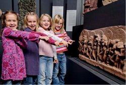 Image of children participating in the San Diego Museum on Man Summer Camp.