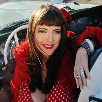 Image of Candye Kane, who will be performing at the Belly Up Tavern on July 14th, 2013.