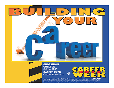 Promotional graphic for the Career Expo Week At Grossmont...
