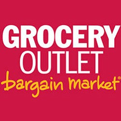 "Graphic logo for Casa de Oro Grocery Outlet ""Bargain Mark..."