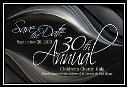 Promotional invitation to Father Joe's Villages 30th Annual Children's Charity Gala on September 28, 2013. Courtesy image of Father Joe's Villages.