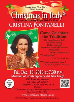 """Promotional graphic for """"Christmas in Italy."""" Courtesy of Cristina Fontanelli."""