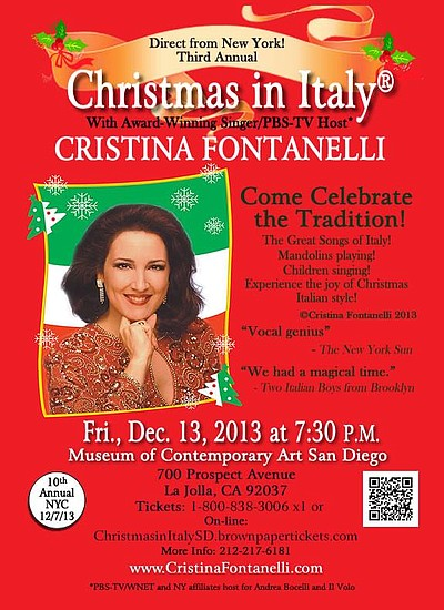 "Promotional graphic for ""Christmas in Italy."" Courtesy of Cristina Fontanelli."