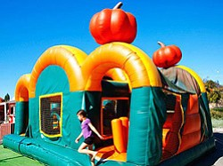 Promotional photo of inflatable jump at the Chula Vista Pumpkin Station. Courtesy photo of Pumpkin Station.