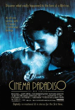 "Promotional graphic for the film, ""Cinema Paradiso."""