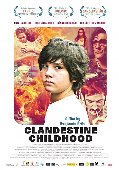 "Promotional graphic for the film, ""Clandestine Childhood"" originally titled ""Infancia clandestina."""