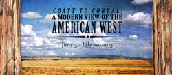 "Promotional graphic for ""Coast To Corral"" cowboy art exhibit at Bonita Museum & Cultural Center, June 5 - July 20, 2013."