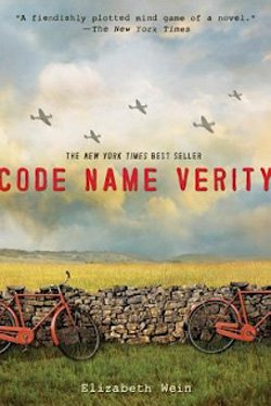 "Cover image for the book, ""Code Name Verity"" written by Elizabeth Wein."