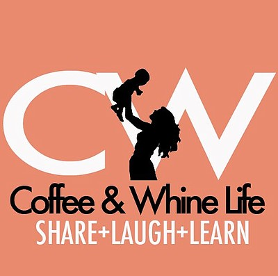 Graphic logo for Coffee and Whine Life.