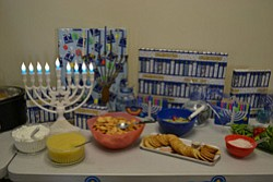 Promotional image of Hanukkah Party by the Jewish Family Service of San Diego, the provider for College Avenue Center.