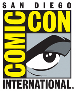 Graphic logo for the Comic-Con International San Diego.