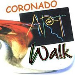 Promotional logo for Coronado Art Walk taking place on Saturday and Sunday, September 14 and 15, 2013.