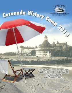 Promotional graphic for the Coronado History Camp 2013.
