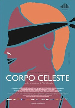 "Promotional movie poster for ""Corpo Celeste"" playing at the Central Public Library."