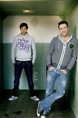 Promotional image of Cosmic Gate, performing at Hard Rock Hotel's Intervention on July 7, 2013.