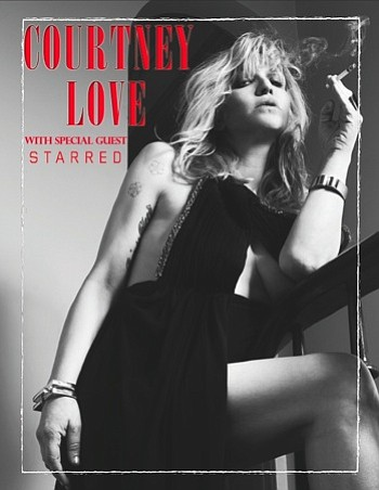 Image of Courtney Love, who will be performing live at the Belly Up Tavern on August 25th, 2013.