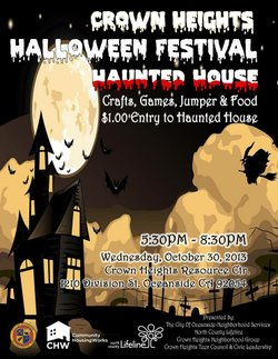 Promotional graphic for North County Lifeline's Halloween Festival Haunted House. Courtesy of North County Lifeline.