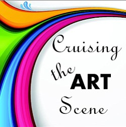 Graphic logo for Cruising The Art Scene, Carlsbad. This m...